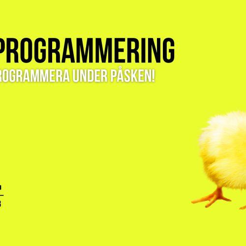 Lär dig programmera i påsk, reklam för påskprogrammering